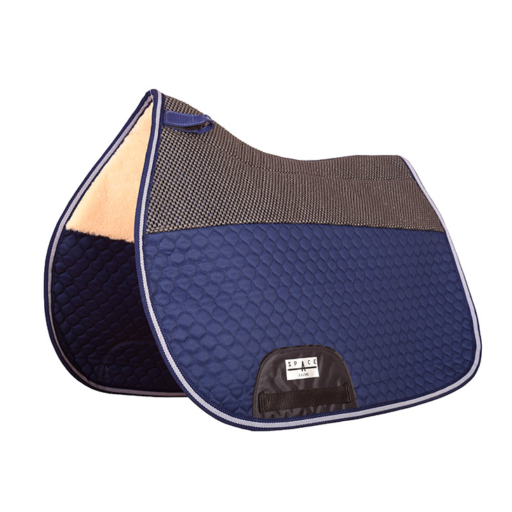 GP Quilted Saddlepad Non Slip Fur Combined