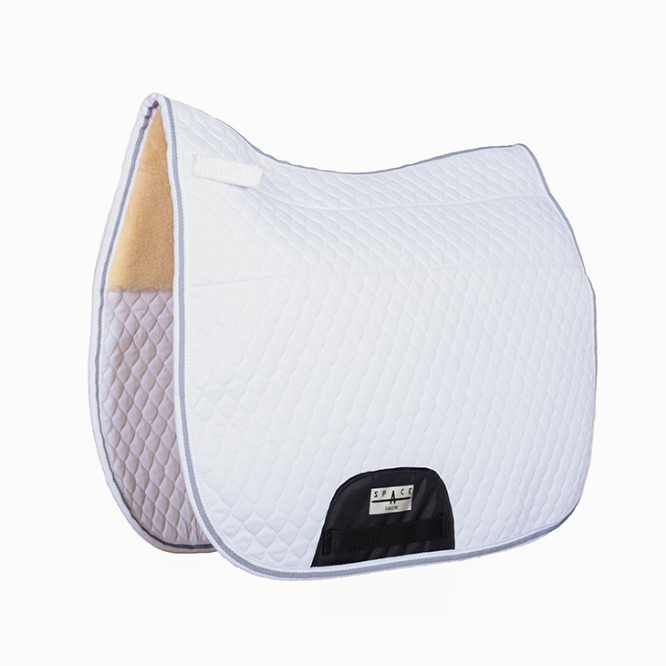 Quilted Dressage Saddlepad Fur Lined