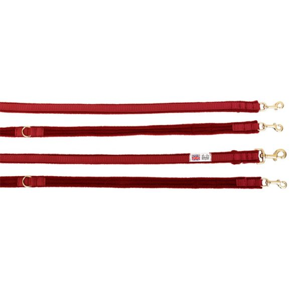 2 metre fleece dog training lead berry