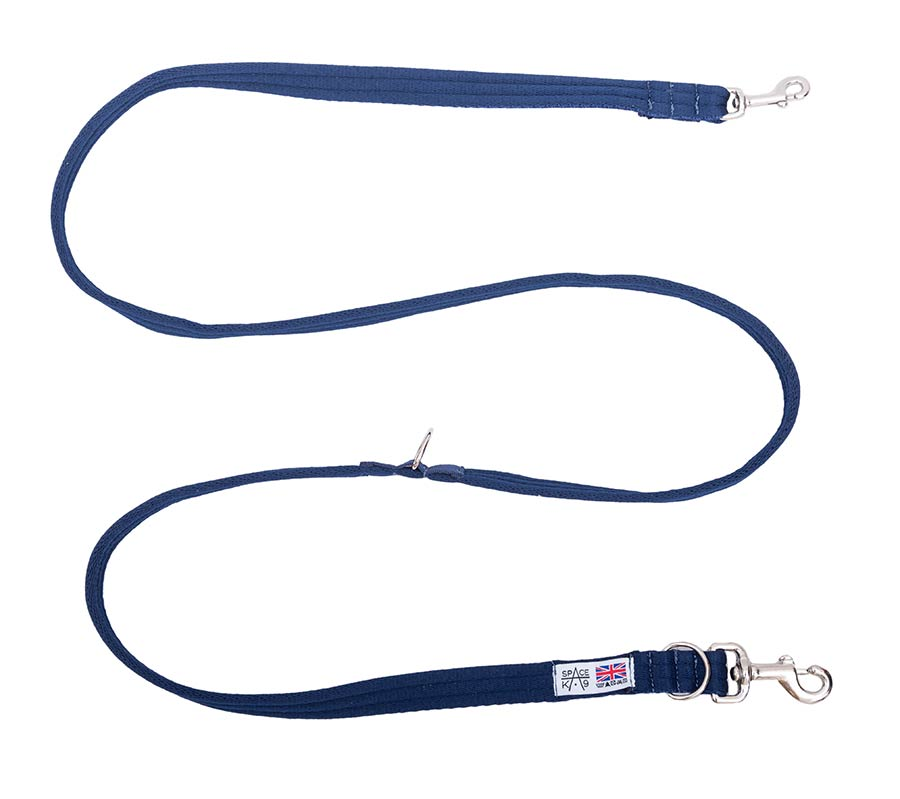 2 Metre Cusioned Web Multi Purpose Training Lead blue