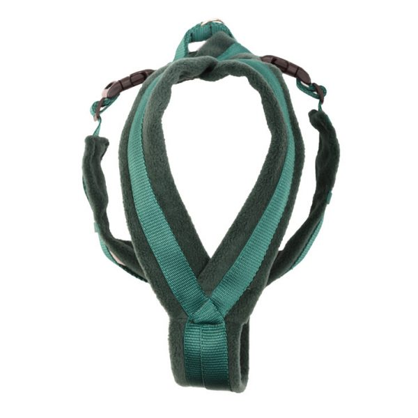 k9 fleece harness racing green
