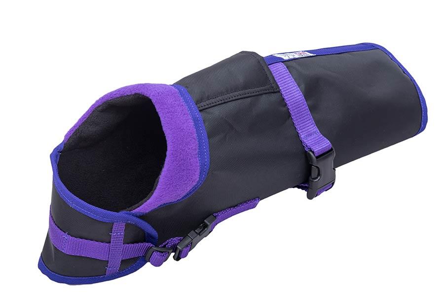 Space K9 Lapel Dog Coat Purple